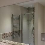 Bathroom wall after mirror