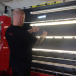 double glazed units being inspected