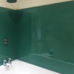 green bathroom splashback 304x241