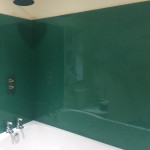 green bathroom splashback 304x241