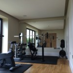 gym mirror residential after mirror fitted