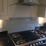 white cooker splashback after